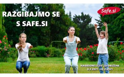 Nagradni izziv za družine: Razgibajmo se s Safe.si
